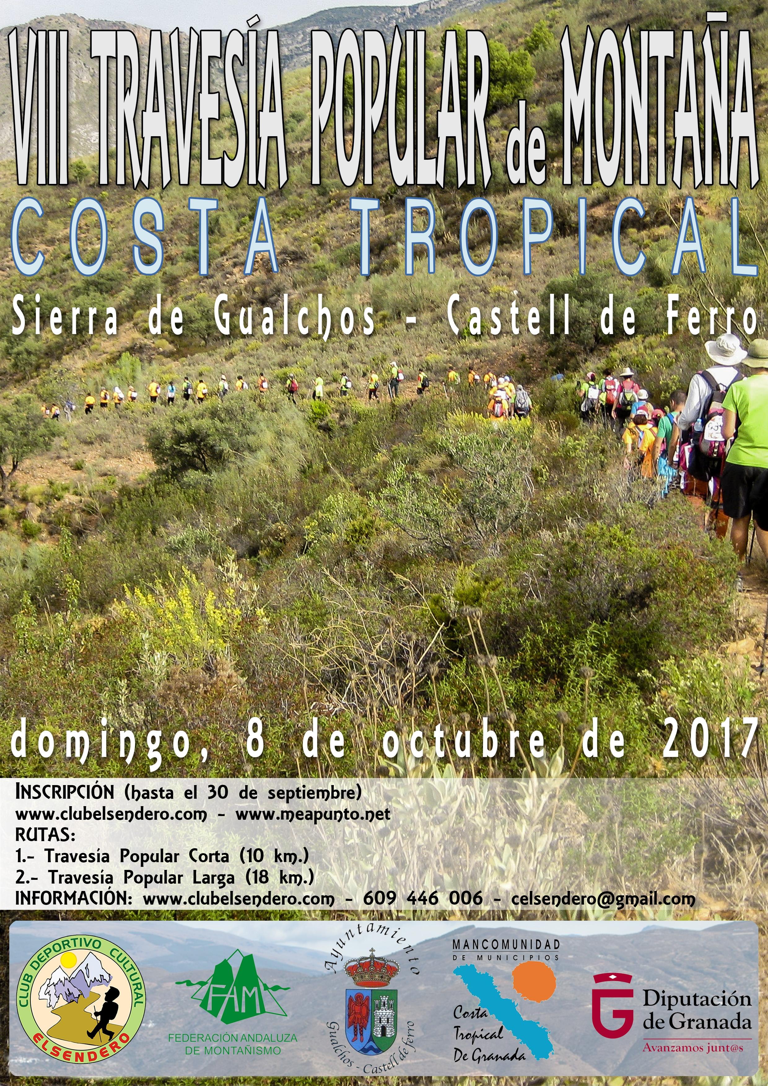 Cartel VIII Travesía Gualchos-Castell